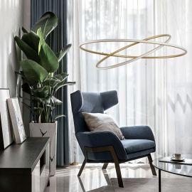 Nowoczesna lampa led GALAXY X2 gold o mocy 71W barwa ciepła 3000K
