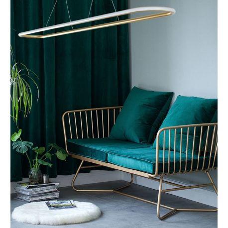 Nowoczesna lampa led Luce di Vicolo gold 120cm 52W z ciepłą barwą 3000K
