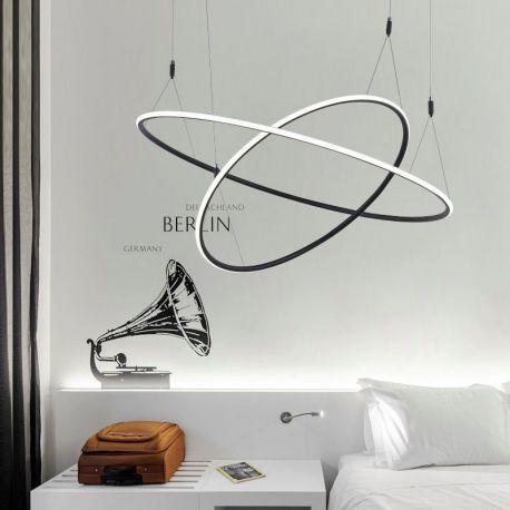 Ultranowoczesna lampa wisząca led MILANO 2 w kolorze czarnym o mocy 85W Nowość