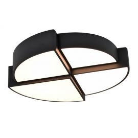 Designerski plafon led Lighthub czarny 60W barwa ciepła 3000K na diodach Osram