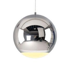 Chromowana metalowa lampa wisząca led Globo o mocy 12W