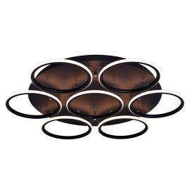 Nowoczesny czarny plafon led Aureola o mocy 86W średnica 80cm z barwą ciepłą 3000K