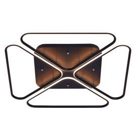 Lampa sufitowa led Butterfly 96W o śr. 80cm z barwą ciepłą 3000K czarna