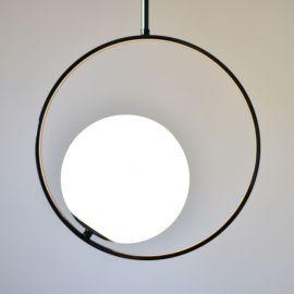 Designerska lampa sufitowa Bella w kolorze black chrome Nowość
