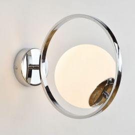 Srebrny kinkiet Bella w stylu glamour chromowany