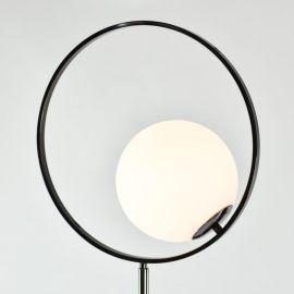 Lampa podłogowa Bella z marmurową podstawą czarna chromowana w stylu glamour