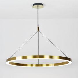 Designerska lampa led Modena ze złotym ringiem 120cm moc 60W z ciepłą barwą 3000K